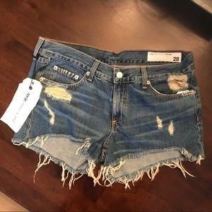 rag & bone cutoff Winnie jean shorts size 28